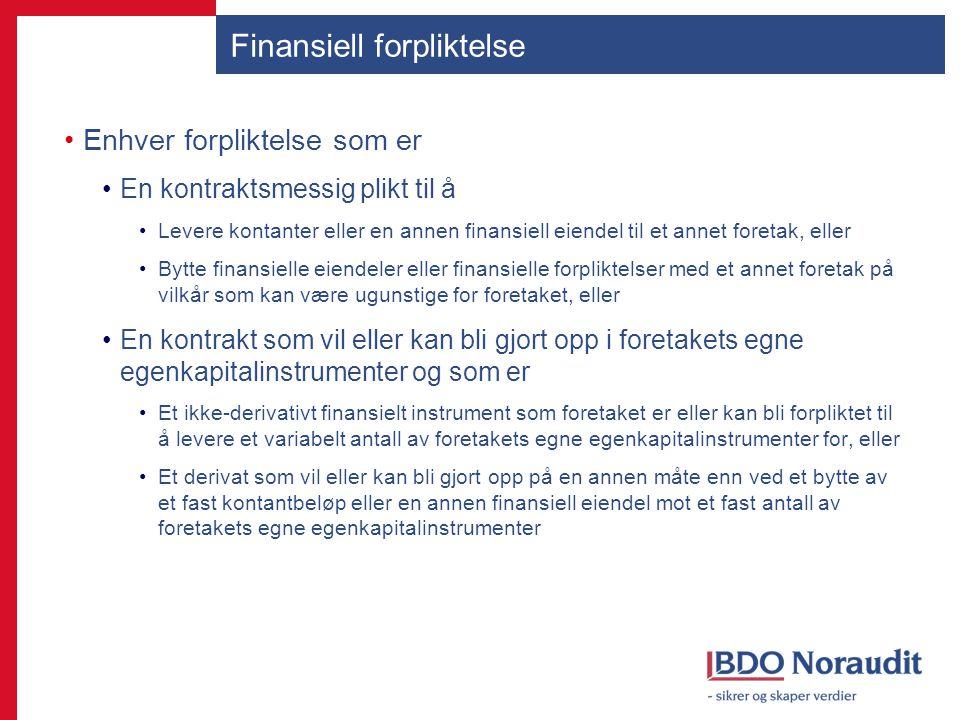 Finansiell forpliktelse