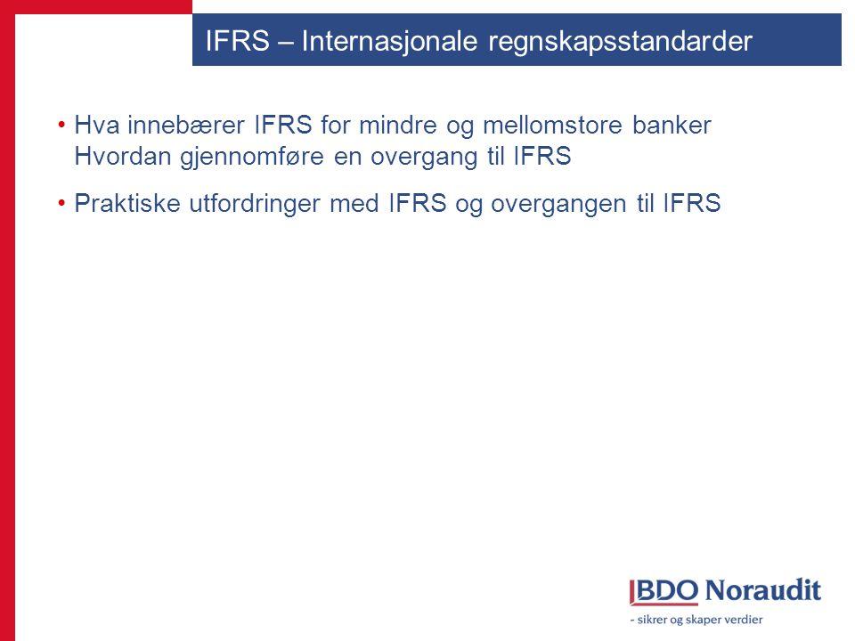 IFRS – Internasjonale regnskapsstandarder