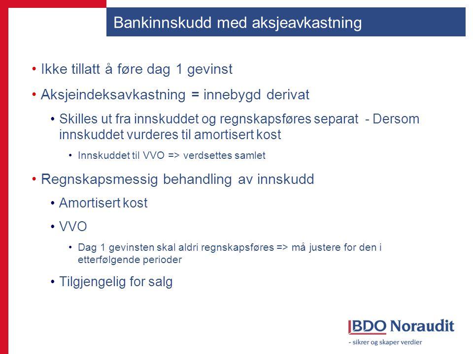 Bankinnskudd med aksjeavkastning