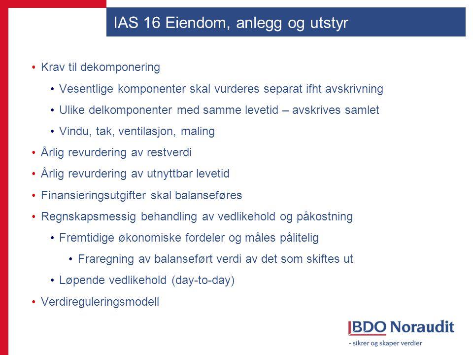 IAS 16 Eiendom, anlegg og utstyr
