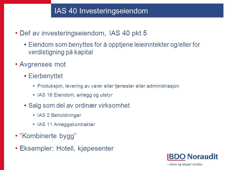 IAS 40 Investeringseiendom