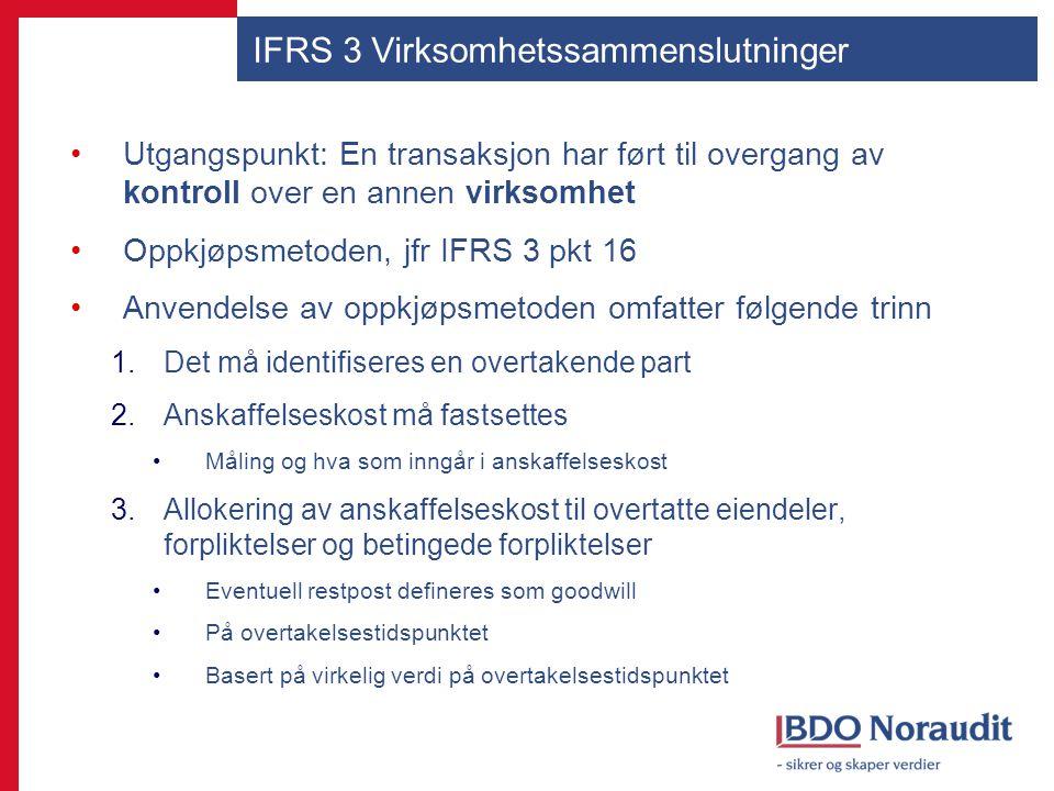 IFRS 3 Virksomhetssammenslutninger