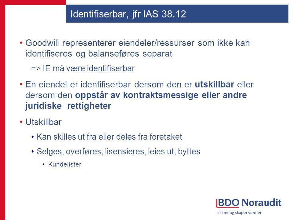 Identifiserbar, jfr IAS 38.12