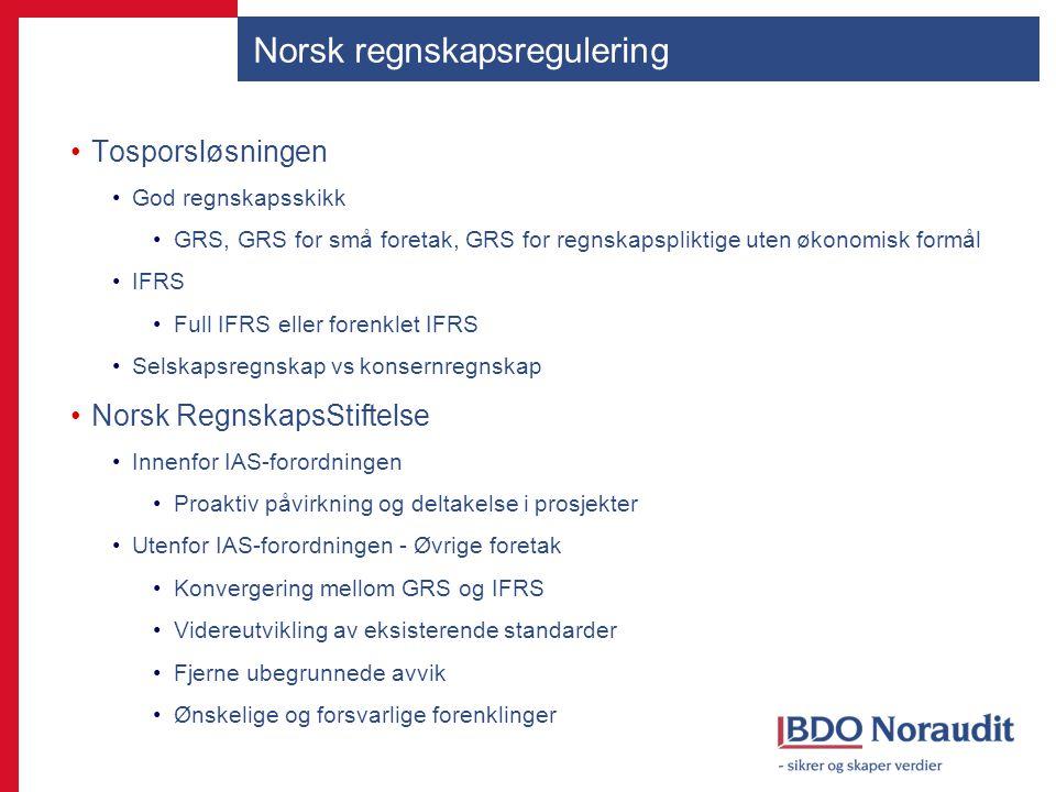 Norsk regnskapsregulering
