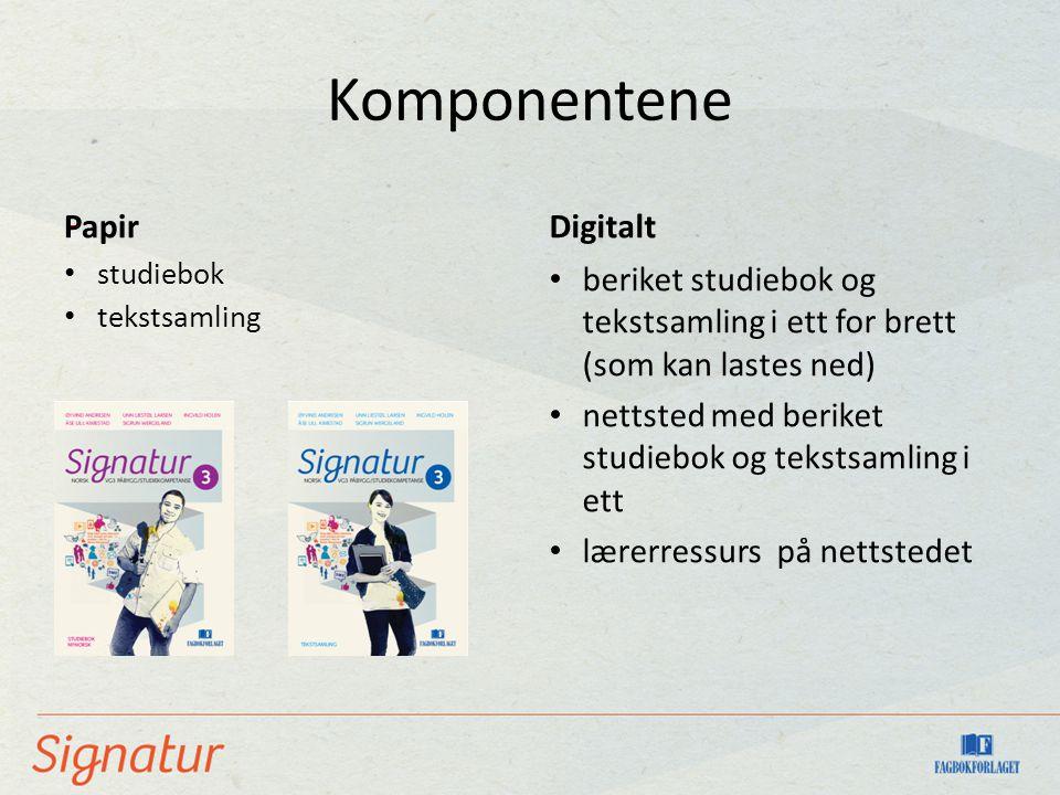 Komponentene - Papir Digitalt
