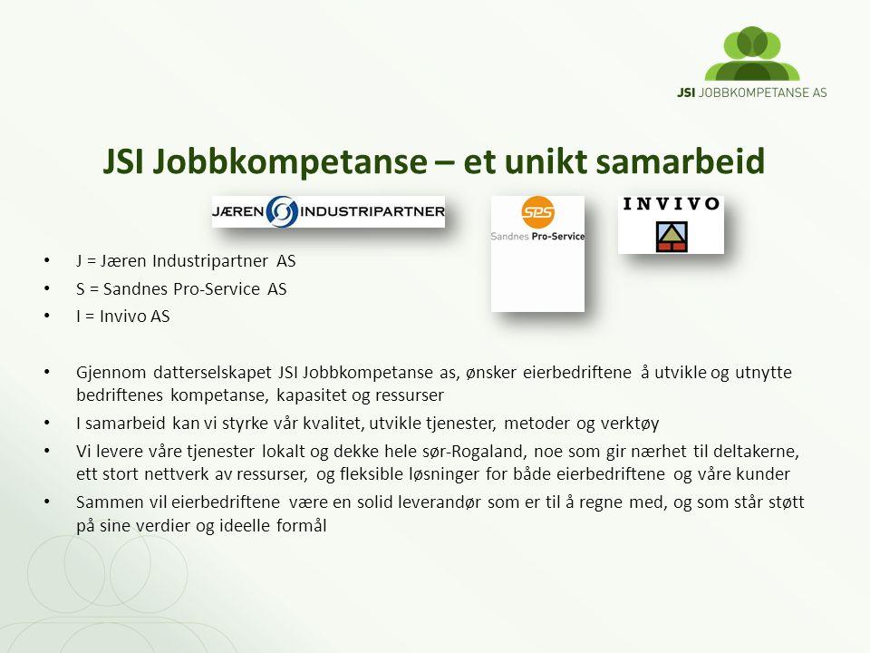 JSI Jobbkompetanse – et unikt samarbeid