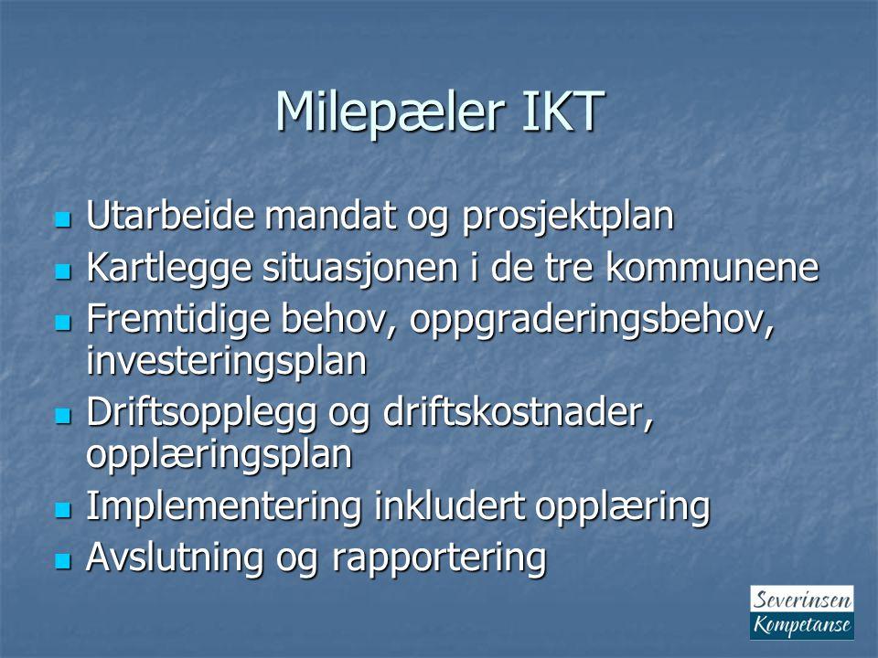 Milepæler IKT Utarbeide mandat og prosjektplan