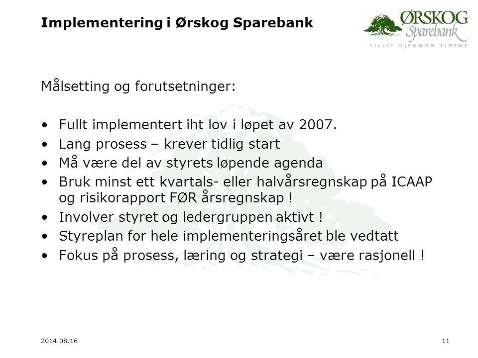 Implementering i Ørskog Sparebank