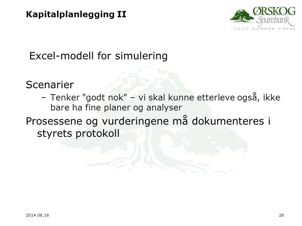 Kapitalplanlegging II