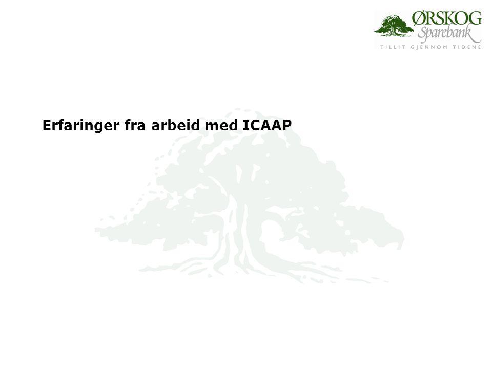 Erfaringer fra arbeid med ICAAP