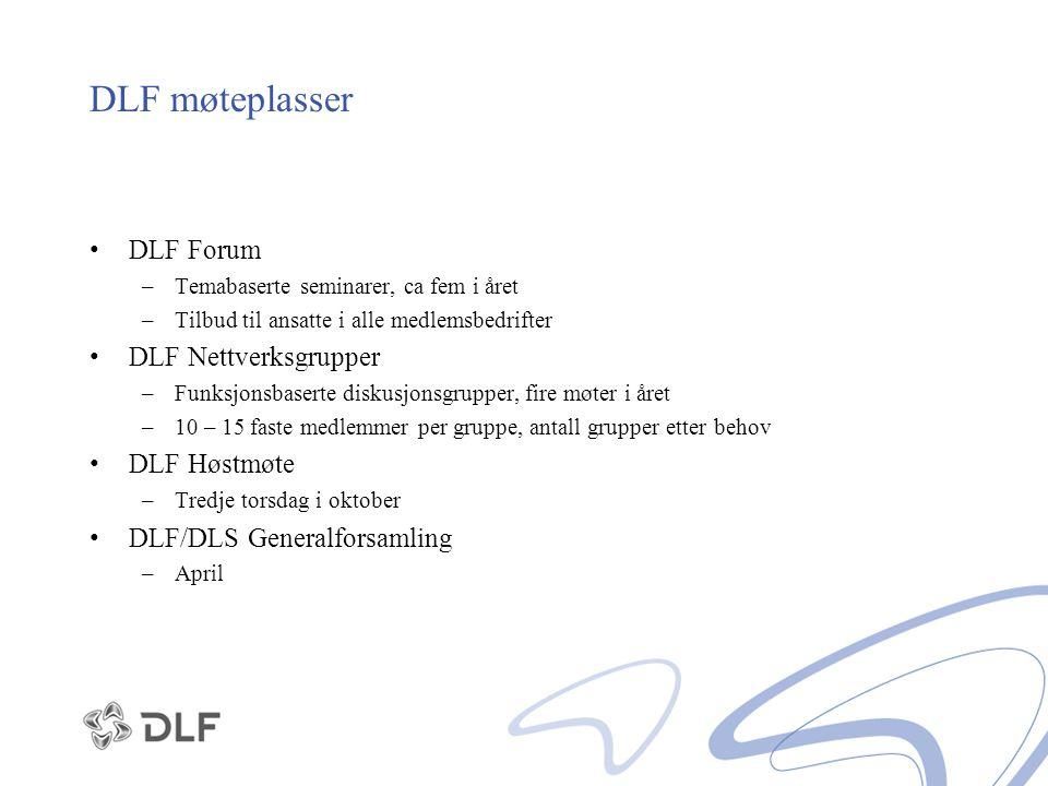DLF møteplasser DLF Forum DLF Nettverksgrupper DLF Høstmøte