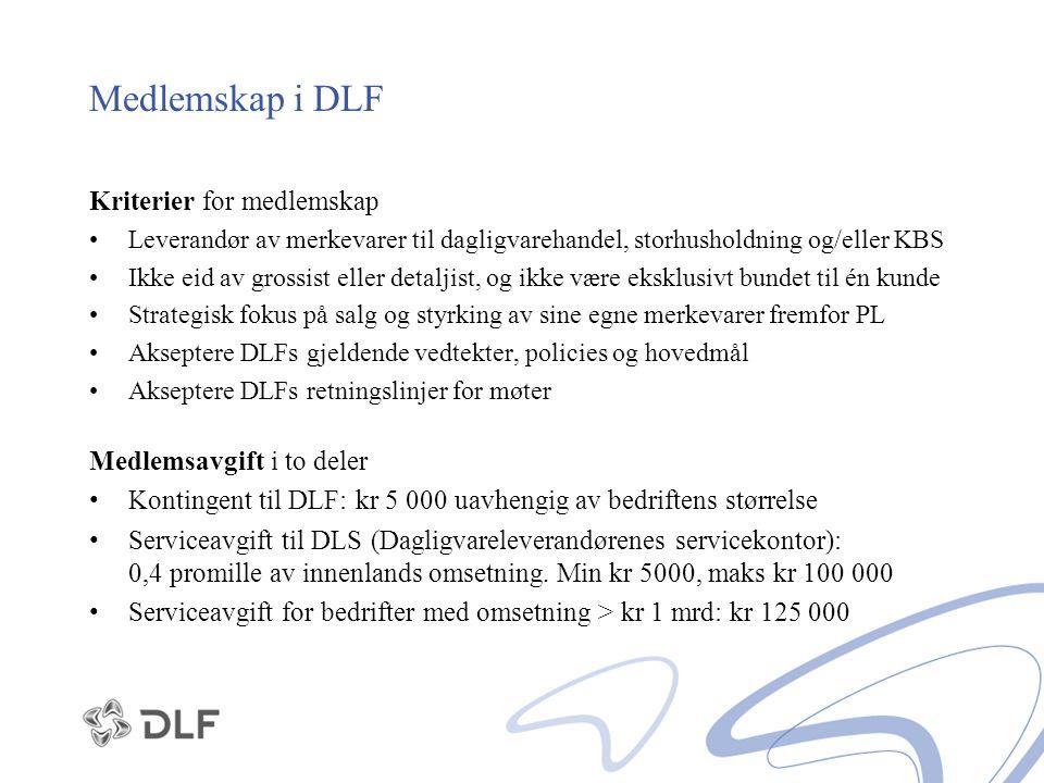 Medlemskap i DLF Kriterier for medlemskap Medlemsavgift i to deler