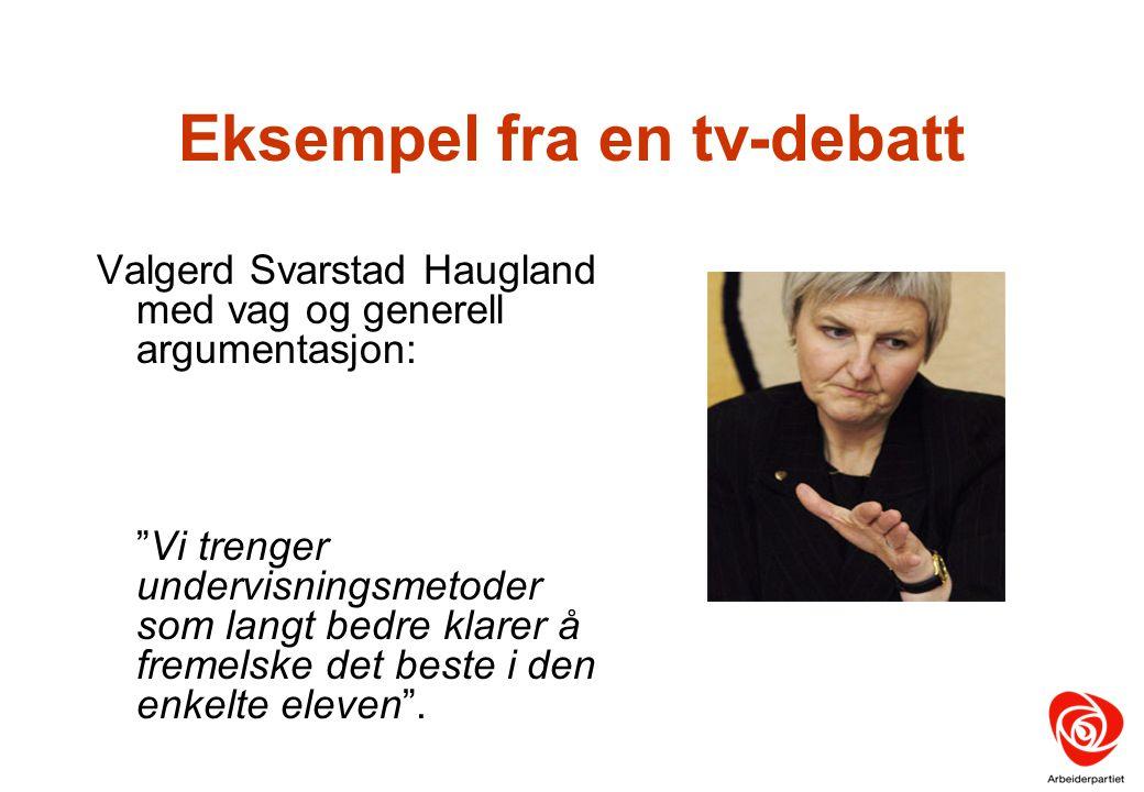 Eksempel fra en tv-debatt