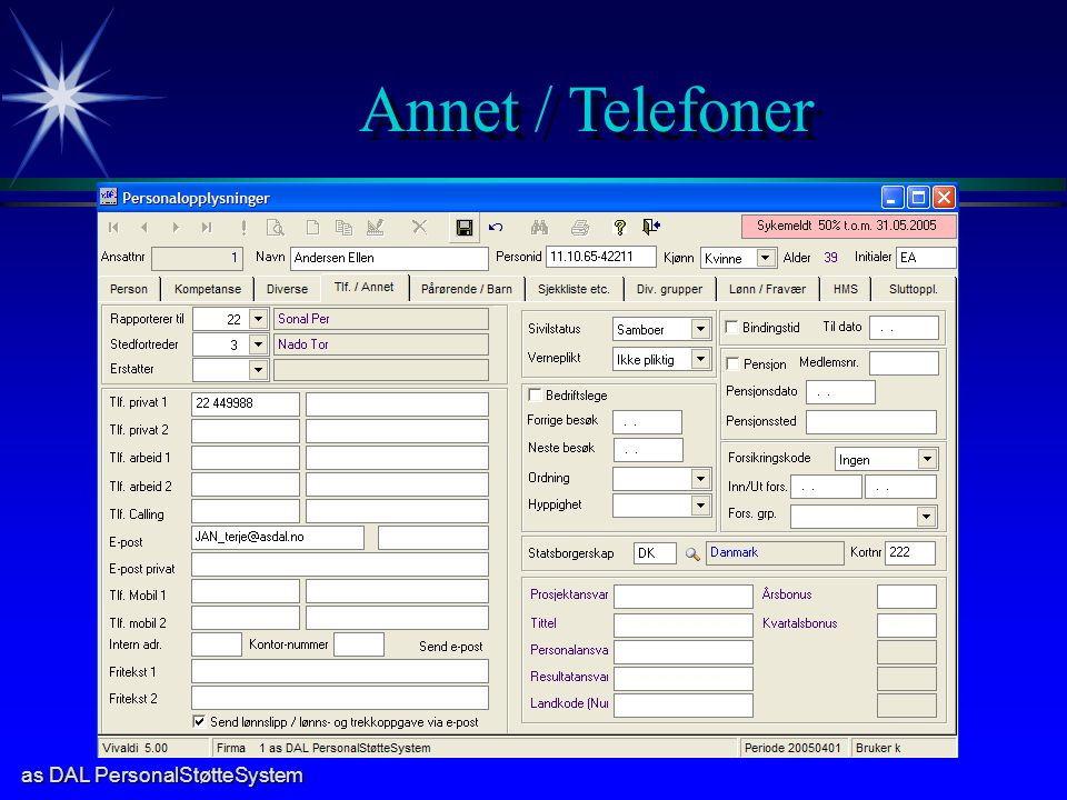 Annet / Telefoner
