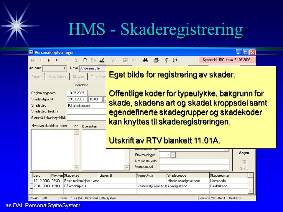 HMS - Skaderegistrering