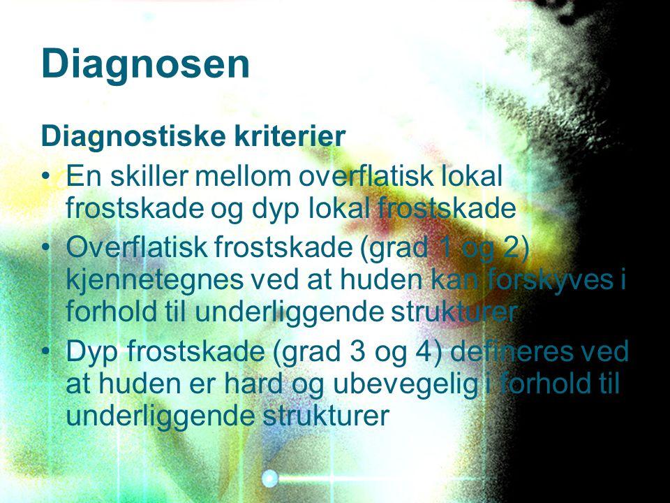 Diagnosen Diagnostiske kriterier