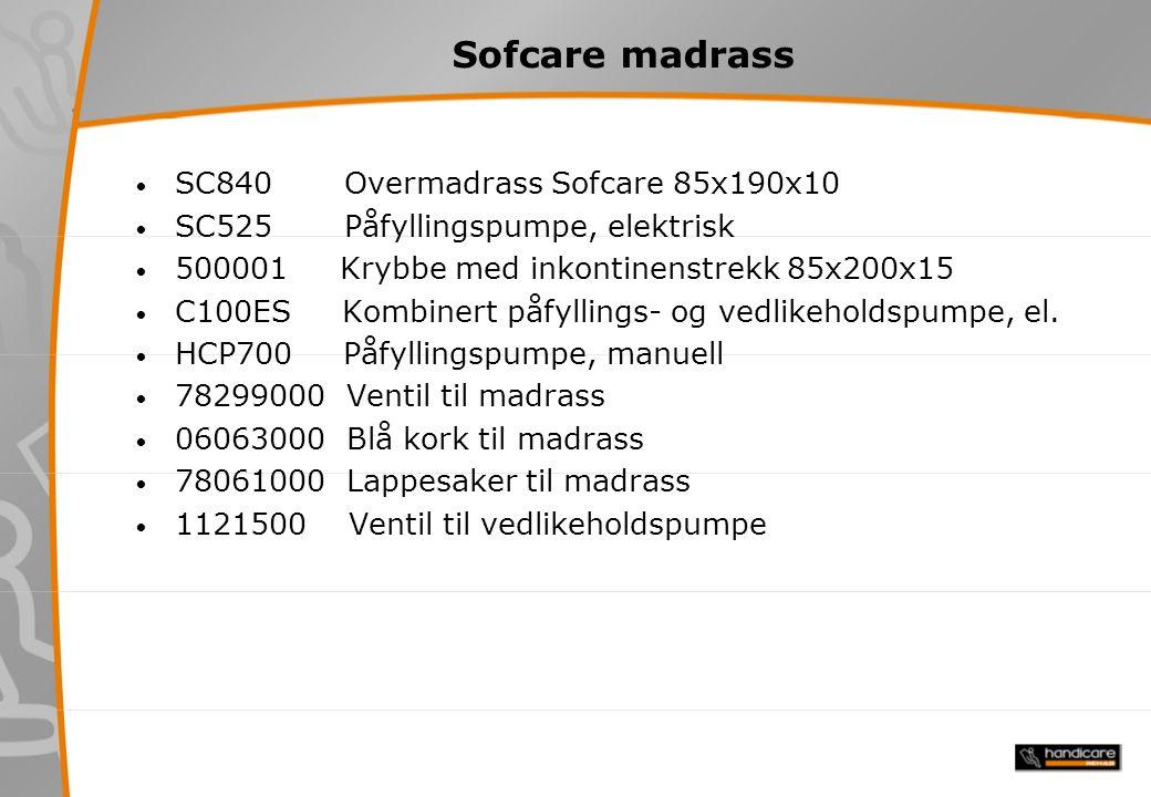 Sofcare madrass SC840 Overmadrass Sofcare 85x190x10