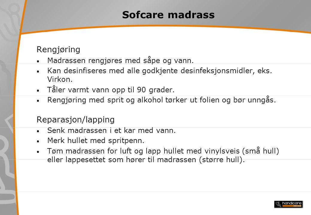 Sofcare madrass Rengjøring Reparasjon/lapping