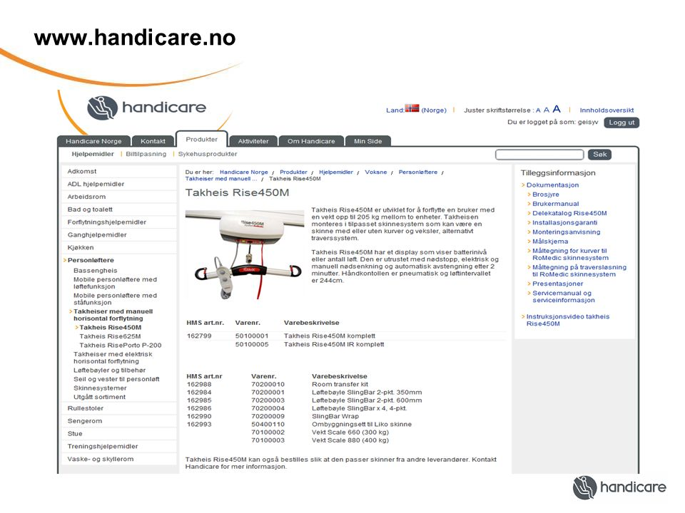 www.handicare.no