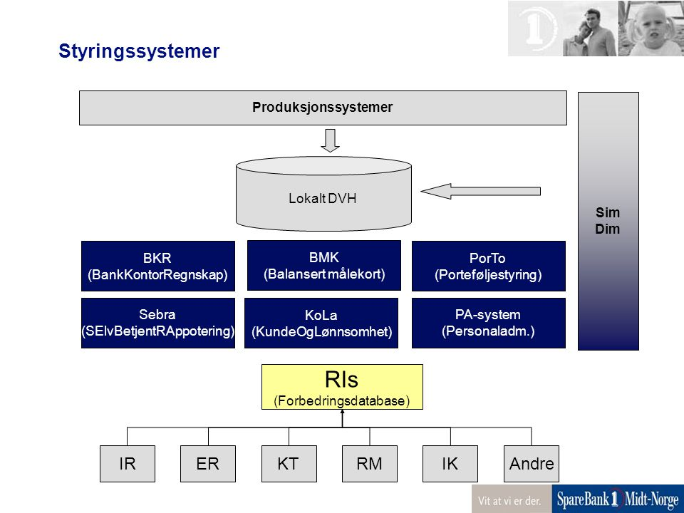RIs Styringssystemer IR ER KT RM IK Andre Produksjonssystemer Sim Dim