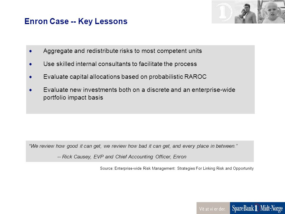 Enron Case -- Key Lessons