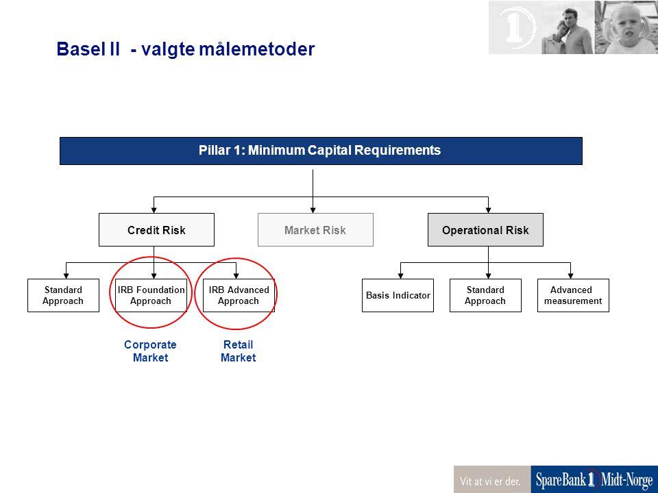 Basel II - valgte målemetoder