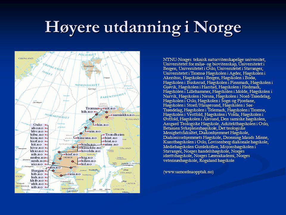 Høyere utdanning i Norge