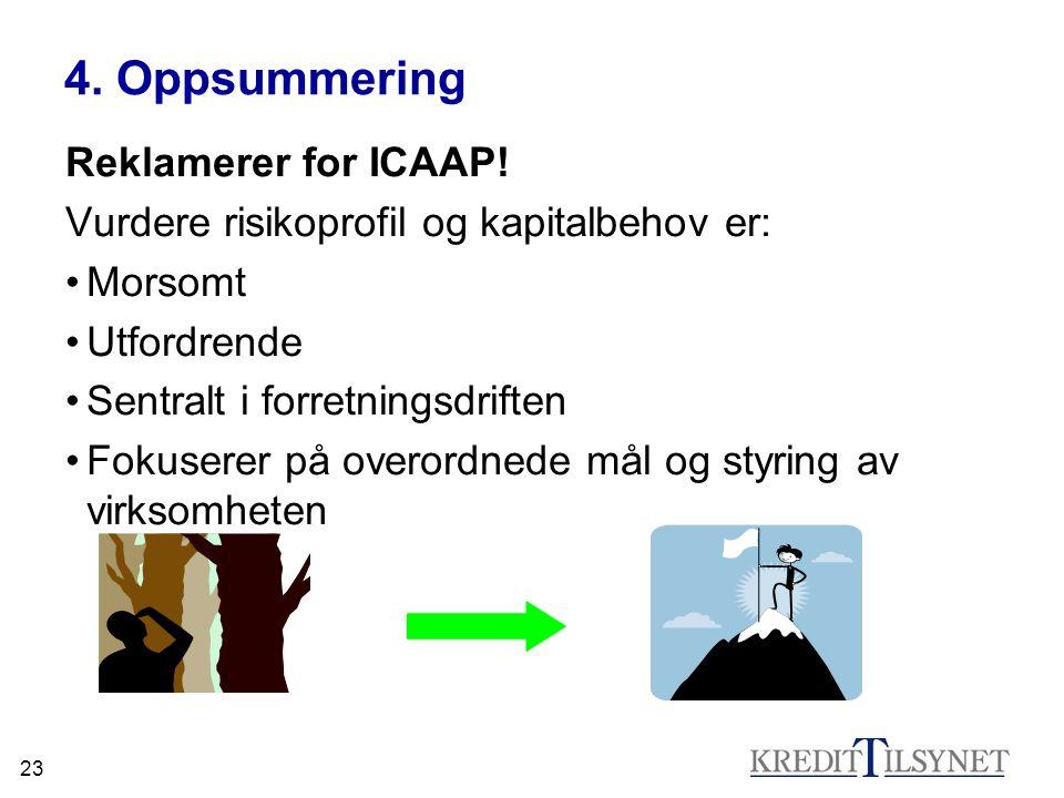 4. Oppsummering Reklamerer for ICAAP!