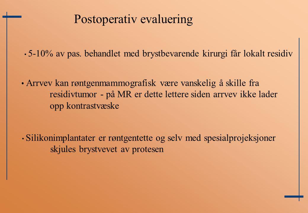 Postoperativ evaluering