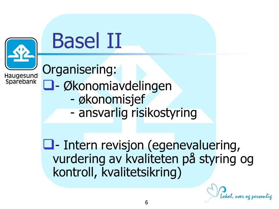 Basel II Organisering: