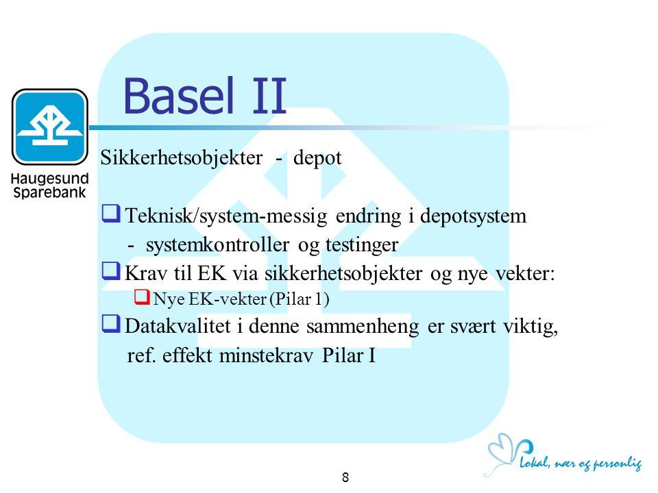 Basel II Sikkerhetsobjekter - depot