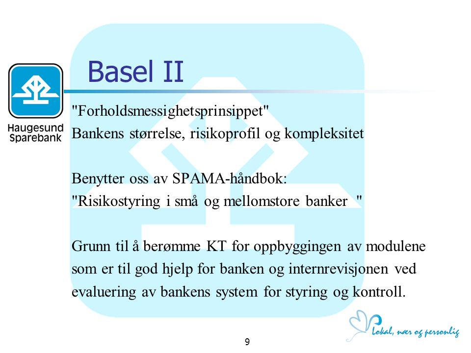Basel II Forholdsmessighetsprinsippet