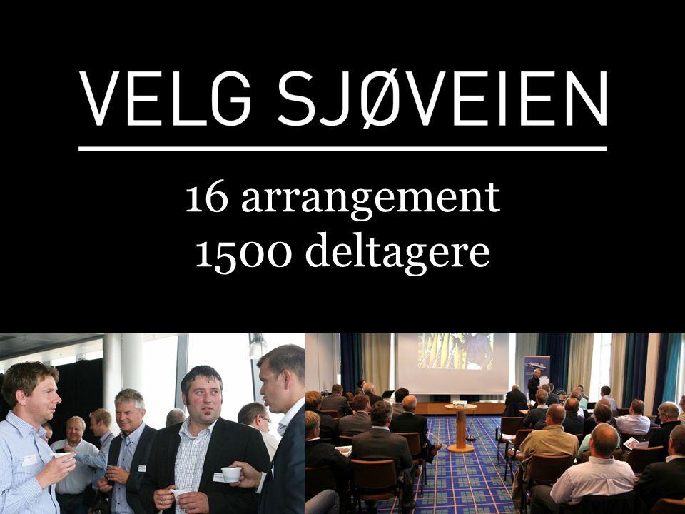 16 arrangement 1500 deltagere