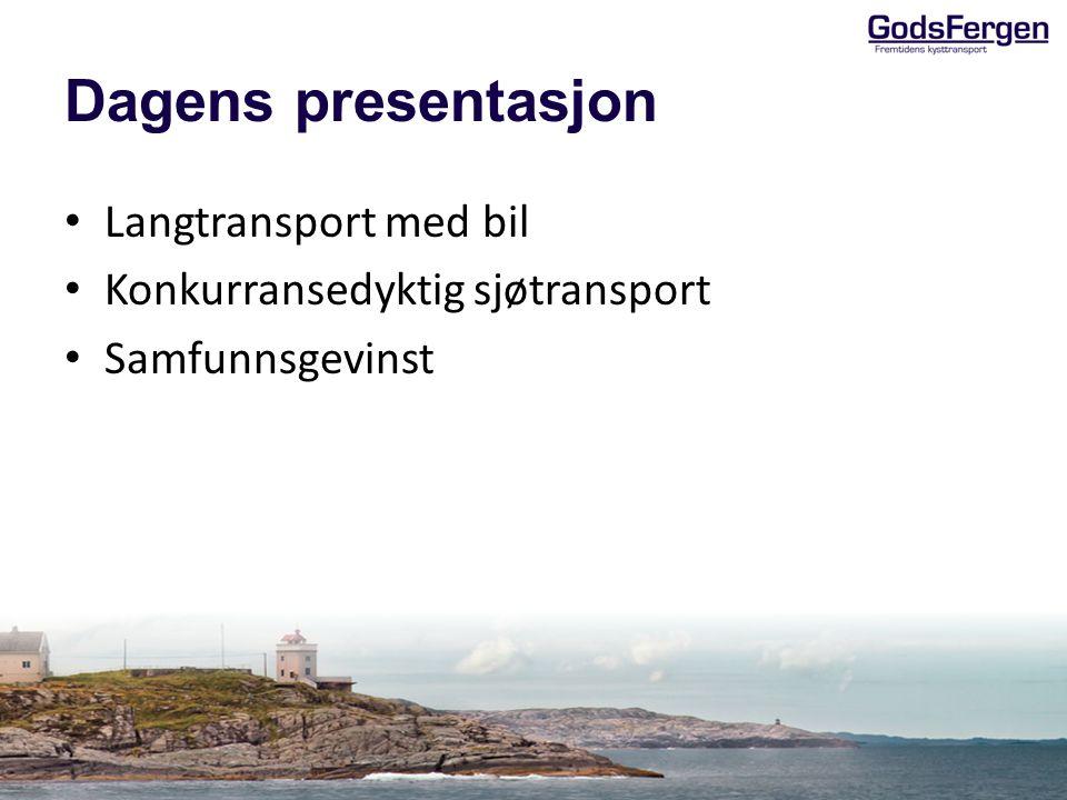 Dagens presentasjon Langtransport med bil