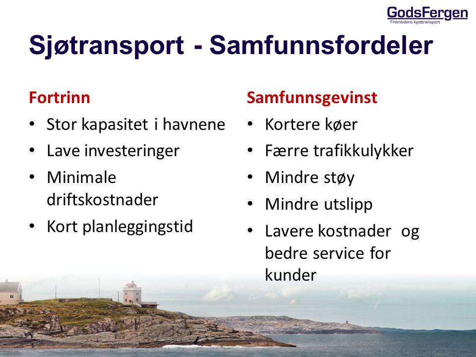Sjøtransport - Samfunnsfordeler