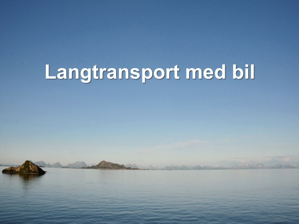 Langtransport med bil