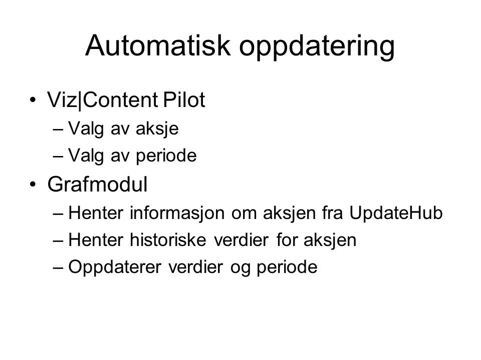 Automatisk oppdatering