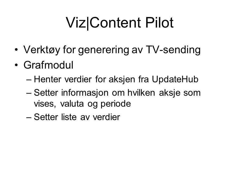 Viz|Content Pilot Verktøy for generering av TV-sending Grafmodul