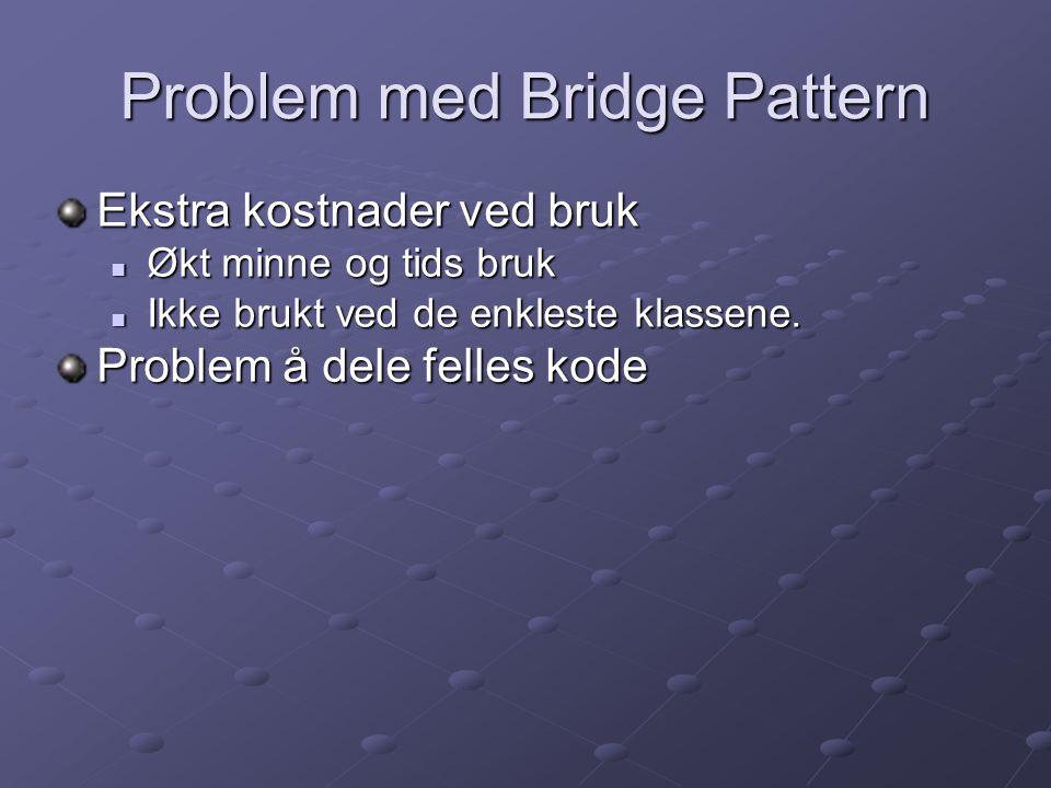 Problem med Bridge Pattern