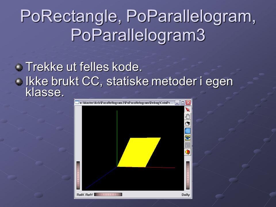 PoRectangle, PoParallelogram, PoParallelogram3