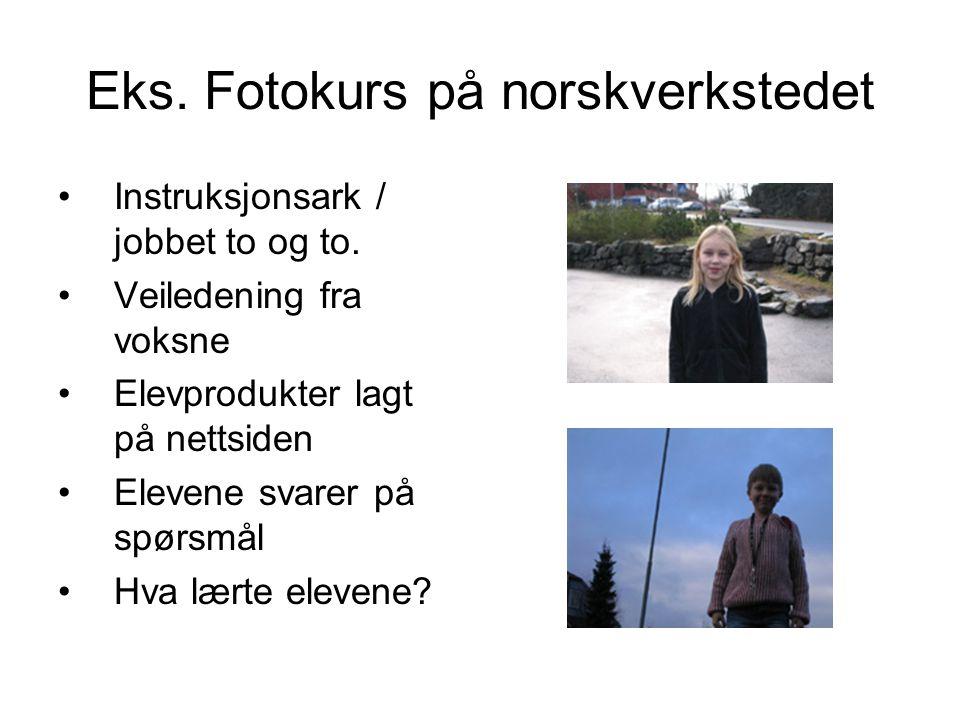 Eks. Fotokurs på norskverkstedet