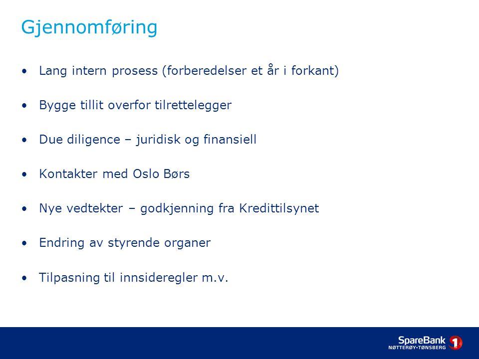 Gjennomføring Lang intern prosess (forberedelser et år i forkant)