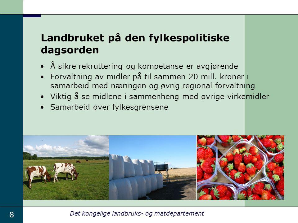 Landbruket på den fylkespolitiske dagsorden