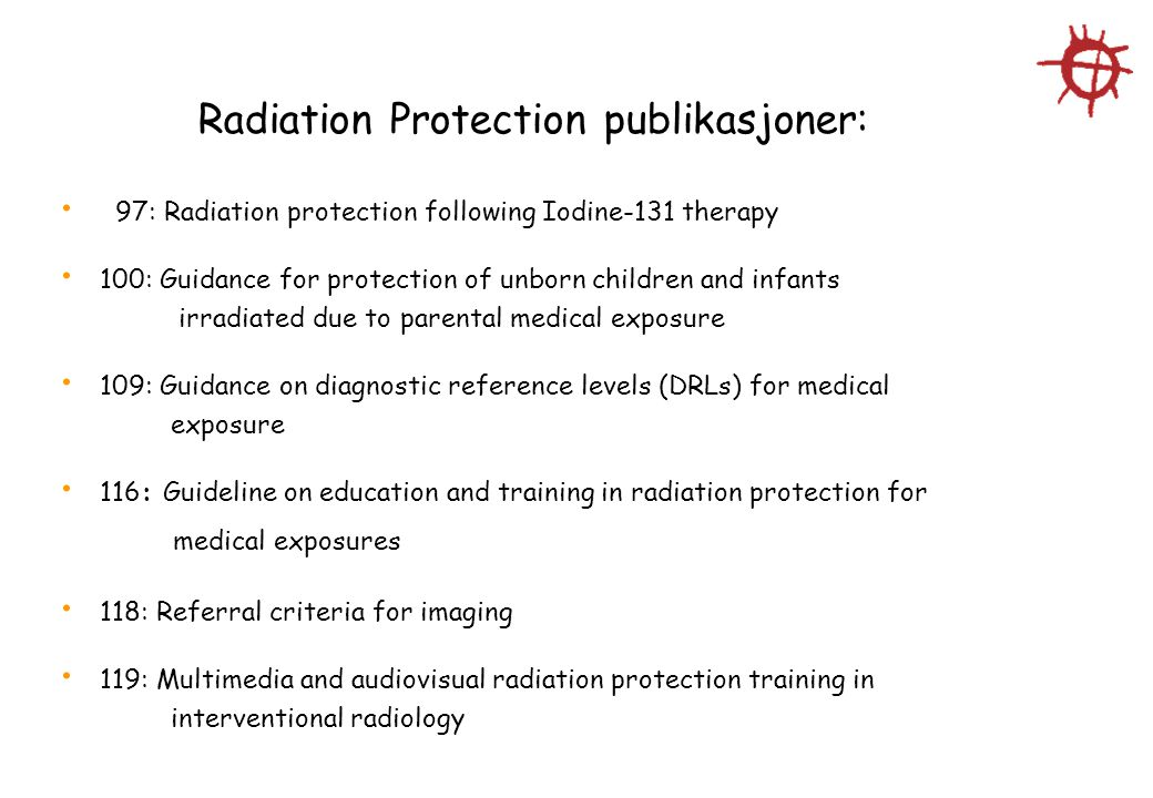 Radiation Protection publikasjoner: