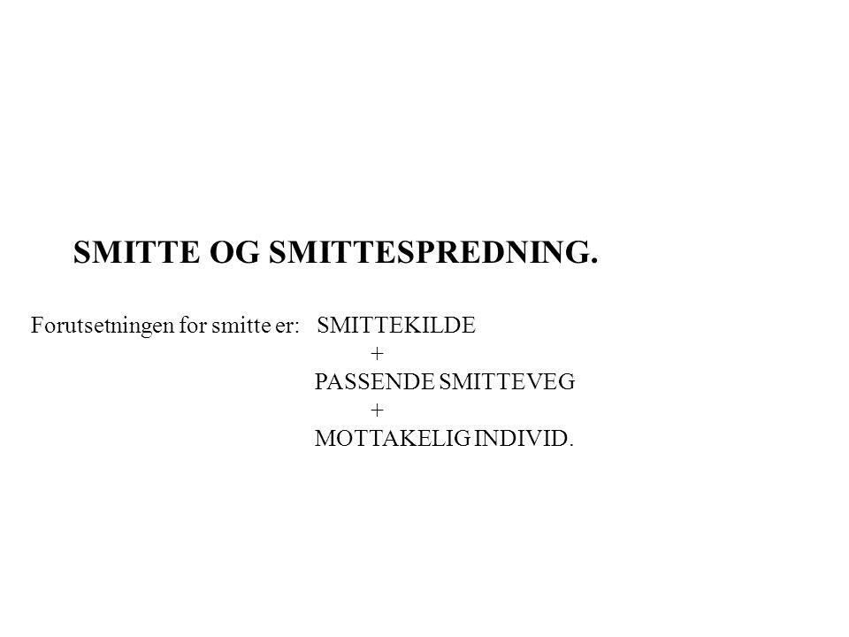 SMITTE OG SMITTESPREDNING.