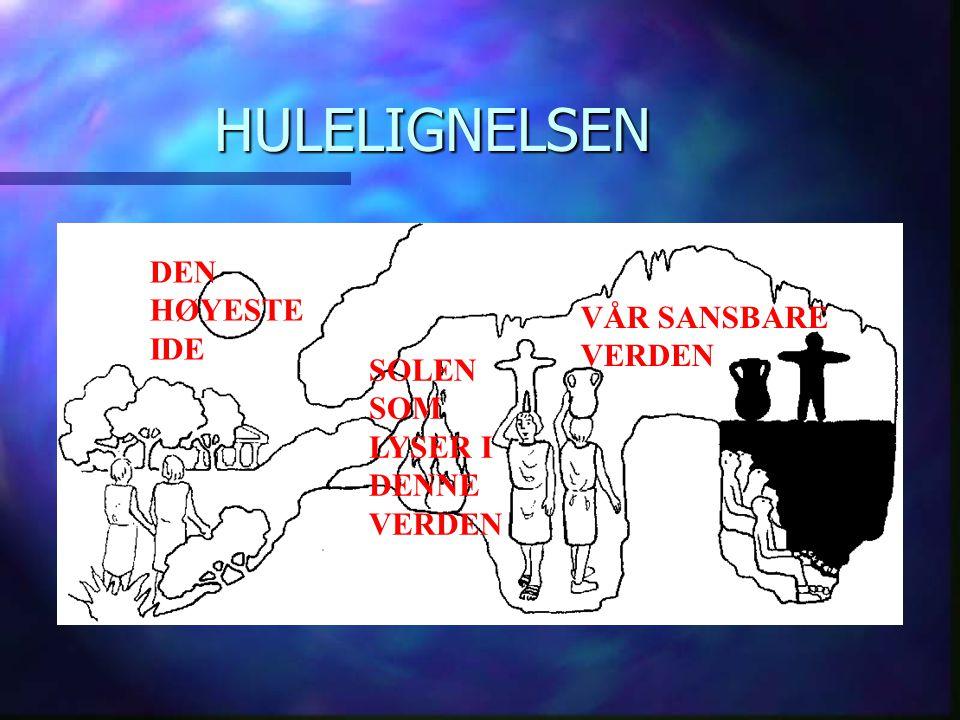 HULELIGNELSEN DEN HØYESTE IDE VÅR SANSBARE VERDEN