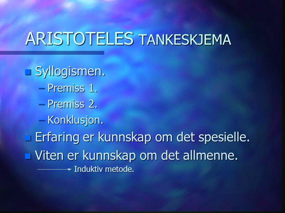 ARISTOTELES TANKESKJEMA
