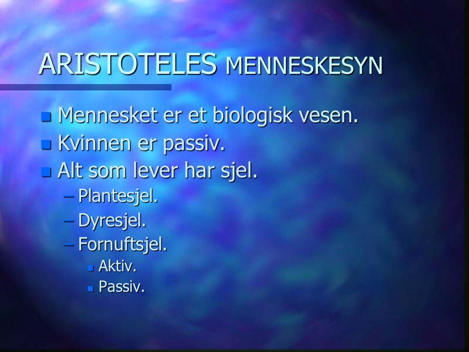 ARISTOTELES MENNESKESYN