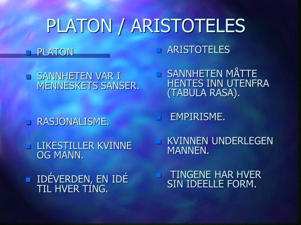 PLATON / ARISTOTELES ARISTOTELES PLATON