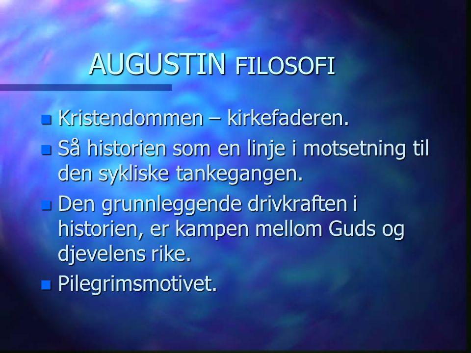 AUGUSTIN FILOSOFI Kristendommen – kirkefaderen.
